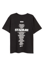 T-shirt with a print motif - Black/Stadium - Men | H&M GB 2