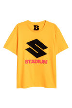 T-shirt with a print motif - Bright yellow - Men | H&M CN 1