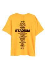 T-shirt with a print motif - Bright yellow - Men | H&M CN 2