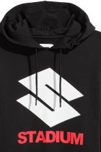 Printed hooded top - Black/Stadium - Men | H&M CN 4
