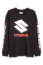 Long-sleeved top - Black/Stadium - Men | H&M CN 1
