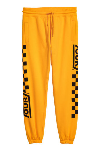 Sweatpants with Printed Motif Model
