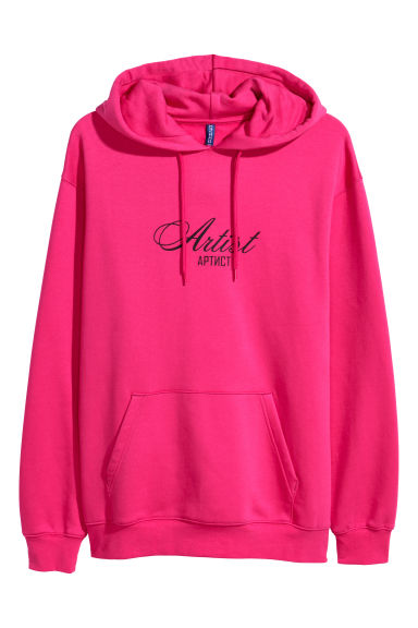 Printed hooded top - Cerise - Men | H&M