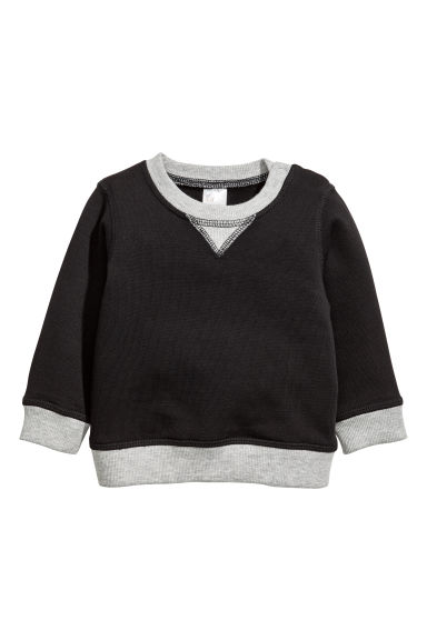 棉質運動衫 - Black/Grey - Kids | H&M 1