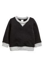 Cotton Sweatshirt - Black/gray - Kids | H&M CA 1