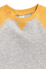 Cotton sweatshirt - Light grey/Yellow -  | H&M 2