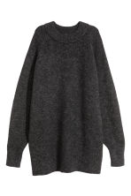 Knitted wool-blend dress - Dark grey - Ladies | H&M GB 2