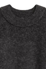 Knitted wool-blend dress - Dark grey - Ladies | H&M GB 3