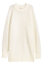 Long wool-blend jumper - Natural white - Ladies | H&M 2
