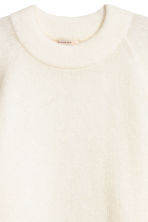 Long wool-blend jumper - Natural white - Ladies | H&M 3