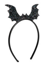 Alice band with a bat - Black/Glittery - Kids | H&M CN 1