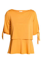 MAMA Top da allattamento - Giallo senape - DONNA | H&M IT 1