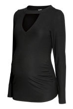 MAMA Ribbed jersey top - Black - Ladies | H&M 1