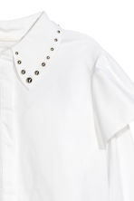 Blouse with studs - White - Ladies | H&M CN 2
