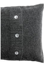 Cashmere-blend cushion cover - Anthracite grey - Home All | H&M CN 3