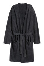 Cashmere-blend dressing gown - Anthracite grey - Home All | H&M CN 2