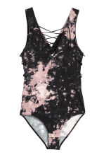 Body with lacing - Black/Batik - Ladies | H&M 1