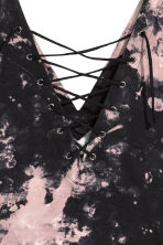 Body with lacing - Black/Batik - Ladies | H&M 2