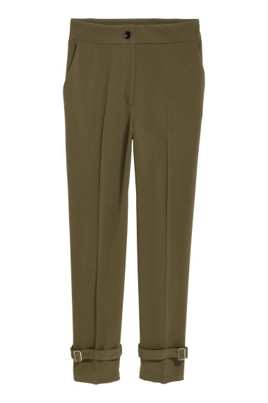 Wide trousers - Dark green - Ladies | H&M CN 1