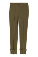 Wide trousers - Dark green - Ladies | H&M 2