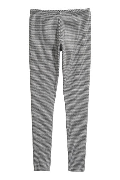 Patterned leggings - Black/Dogtooth - Ladies | H&M 1