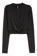 Short jersey top - Black - Ladies | H&M 2