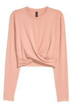 Short jersey top - Powder beige - Ladies | H&M 1