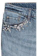 H&M+ Boyfriend Low Jeans - Denim blue/Beads - Ladies | H&M IE 5