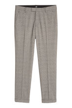 Checked suit trousers Slim fit - Grey/Black checked - Men | H&M 2