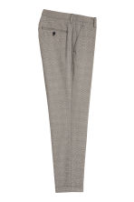 Checked suit trousers Slim fit - Grey/Black checked - Men | H&M 3