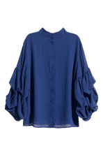 Wide plumeti blouse - Dark blue - Ladies | H&M CN 3