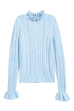 Cable-knit jumper - Light blue - Ladies | H&M 2