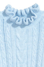 Cable-knit jumper - Light blue - Ladies | H&M 3