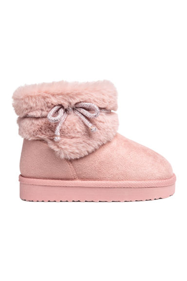 Warm-lined boots - Powder pink - Kids | H&M CN 1