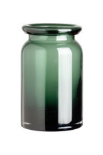 Glass vase - Dark green - Home All | H&M IE 2