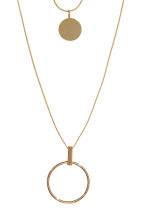 2-pack necklaces - Gold-coloured - Ladies | H&M 2