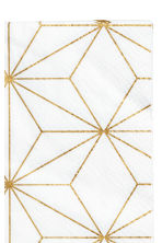 Paper napkins - White/Gold-coloured - Home All | H&M CN 2
