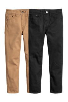 2-pack Twill Pants Slim fit