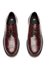 Brogues met robuuste zool - Bordeauxrood - HEREN | H&M NL 2