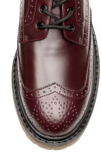 Brogues met robuuste zool - Bordeauxrood - HEREN | H&M NL 3