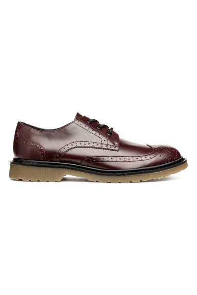 Chunky-soled brogues - Burgundy - Men | H&M