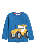 Long-sleeved jersey top - Dark blue marl - Kids | H&M 2