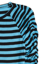 Long-sleeved jersey top - Black/Blue striped - Ladies | H&M CN 3