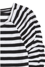 Long-sleeved jersey top - White/Black striped - Ladies | H&M 3