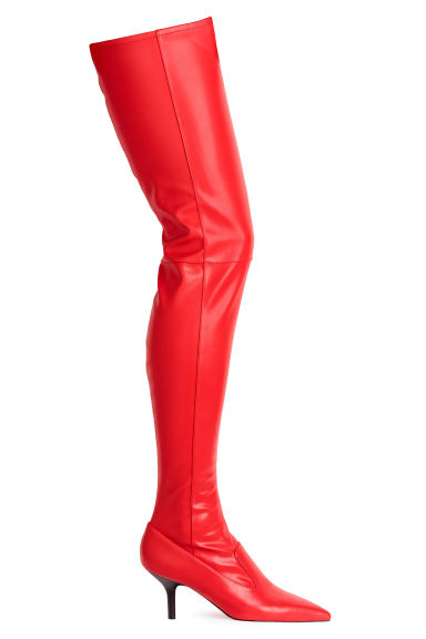 Thigh boots - Red - Ladies | H&M