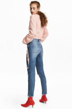 Mom Jeans Trashed - Denim blue/Stars - Ladies | H&M IE 4