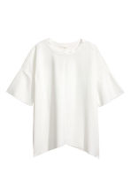 Wide top - White - Ladies | H&M IE 2