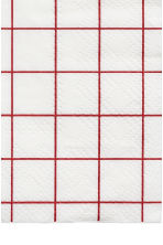 Paper napkins - White/Red checked - Home All | H&M CN 2