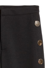 Wide trousers with buttons - Black - Ladies | H&M CN 3