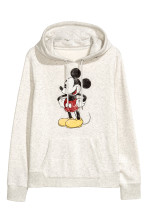 Gris clair chiné/Mickey